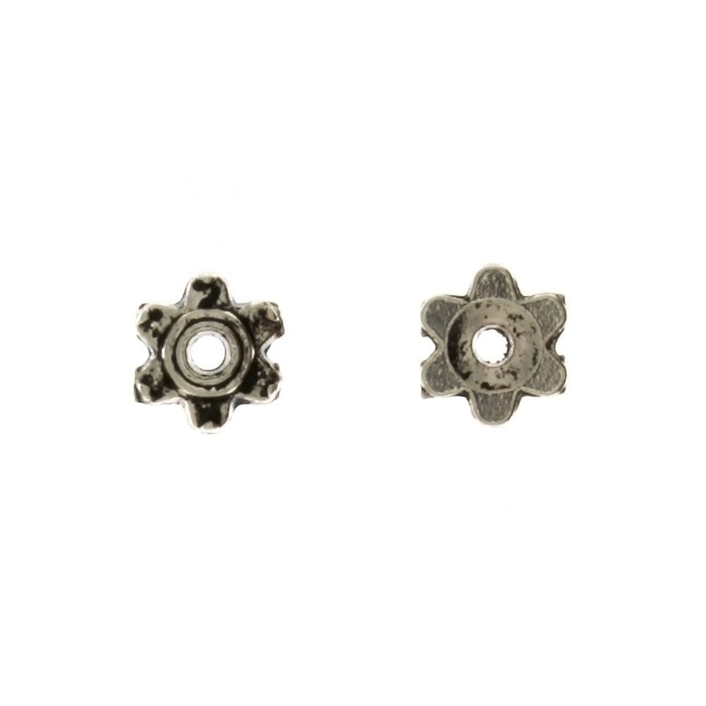 BEAD CAP 6 MM PEWTER FINDING (80 G)