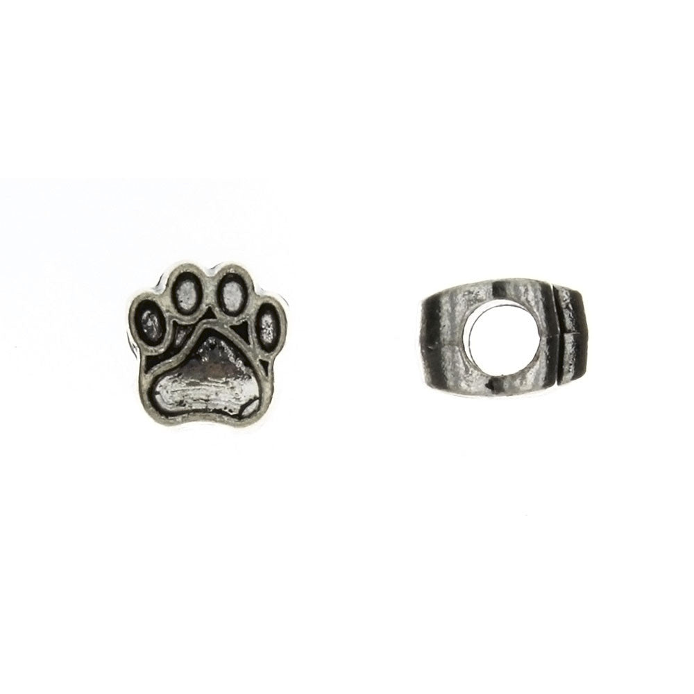 BEAD ANIMAL DOG PAW 11 X 11 MM