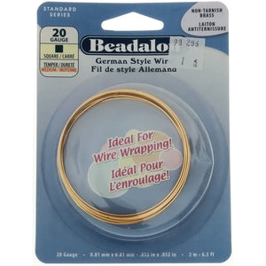 BEADALON 20 GAUGE SQUARE GOLD WIRE (2 M)