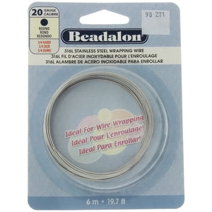 BEADALON 20 GAUGE ROUND STAINLESS WIRE (6 M)