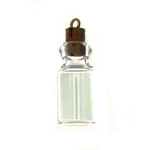 HOBBY GLASS BOTTLE 7/8 X 1/2 IN NOVELTY