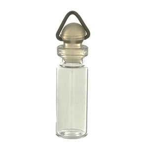 HOBBY GLASS BOTTLE 1 3/8 X 1/2 IN NOVELTY