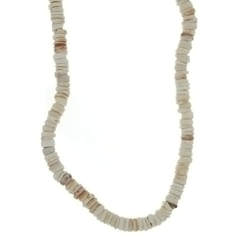 BEADED NATURAL SHELL HEISEI NECKLACE