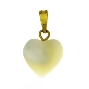 NATURAL MOTHER OF PEARL HEART 12 MM PENDANT