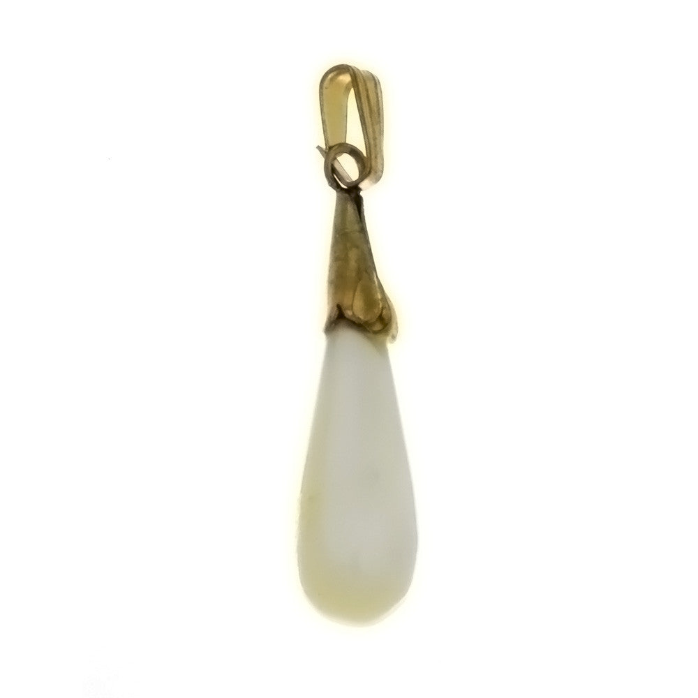 NATURAL MOTHER OF PEARL TEARDROP 8 X 20 MM PENDANT