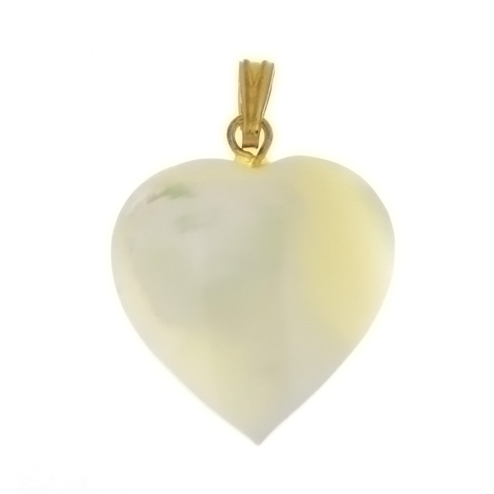 NATURAL MOTHER OF PEARL HEART 25 MM PENDANT