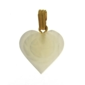 NATURAL MOTHER OF PEARL HEART 15 MM PENDANT