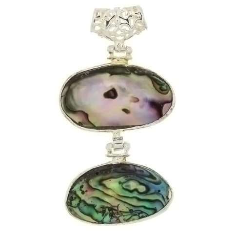 NATURAL ABALONE FREEFORM 20 X 30 MM PENDANT