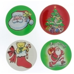 CHRISTMAS BUTTON ASSORTED NOVELTY