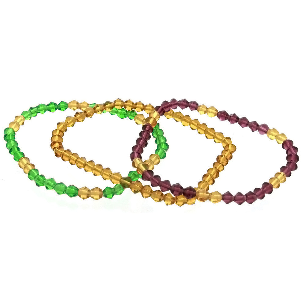 STRETCH GLASS BICONE BRACELET (3)