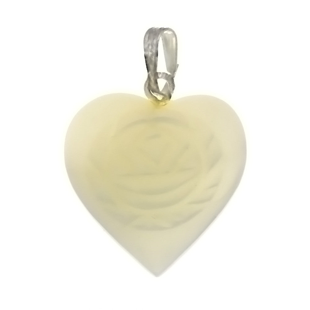 NATURAL MOTHER OF PEARL HEART 20 MM PENDANT