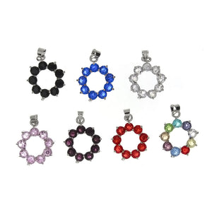CUBIC ZIRCONIA CIRCLE 18 X 22 MM PENDANT