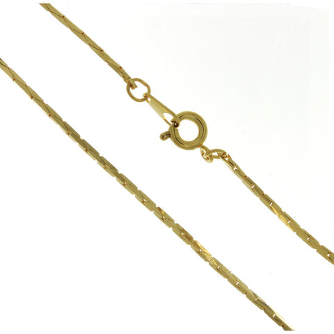 CHAIN NECKLACE COBRA GOLD 1.2 MM X 24 IN (DOZ)