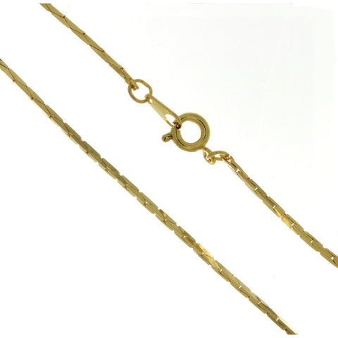 CHAIN NECKLACE COBRA GOLD 1.2 MM X 18 IN (DOZ)