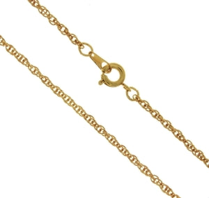 CHAIN NECKLACE ROPE GOLD 1.9 MM X 24 IN (DOZ)