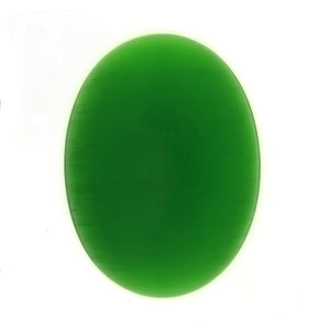 DALE STONE FIBER OPTIC GREEN CABOCHONS