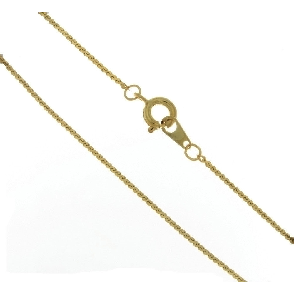 CHAIN NECKLACE HERRINGBONE GOLD 1 MM X 24 IN (DOZ)