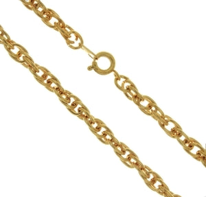 CHAIN NECKLACE ROPE GOLD 5 MM X 18 IN (DOZ)