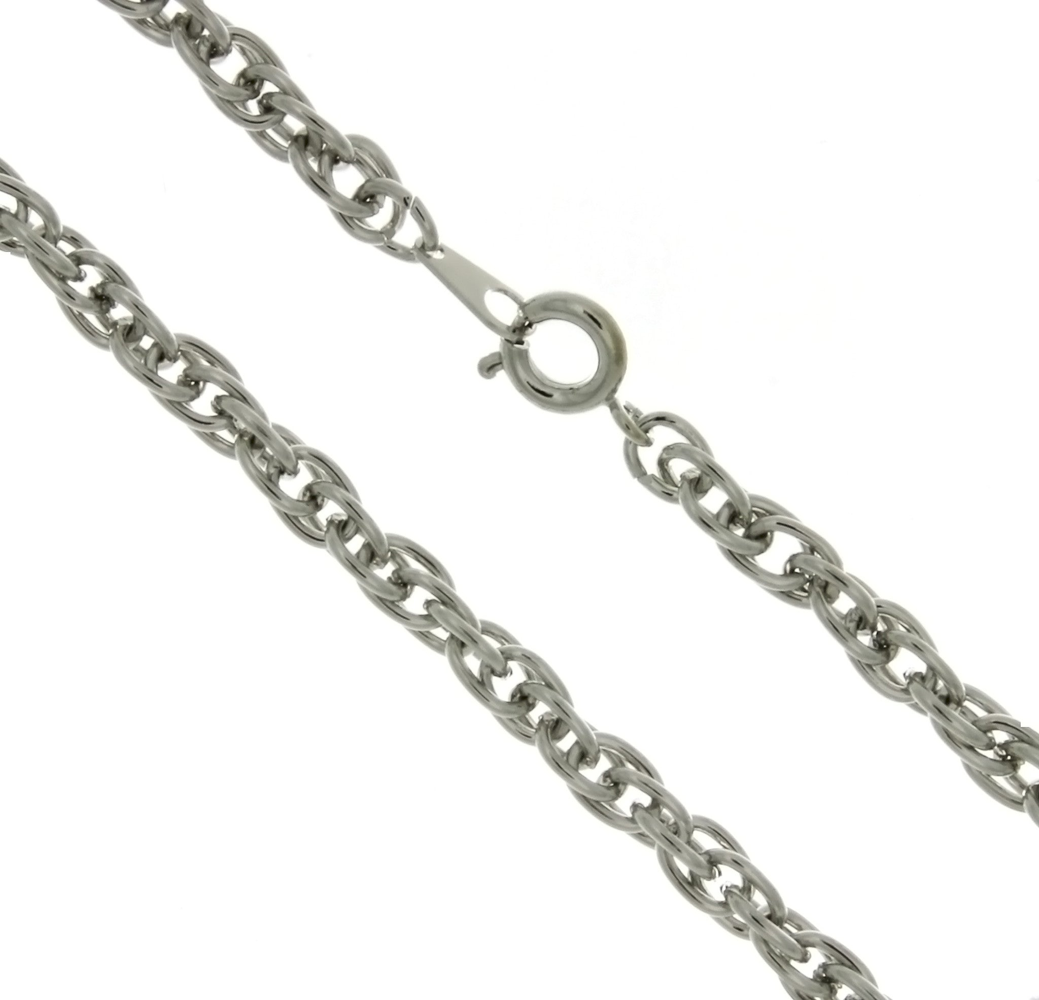 CHAIN NECKLACE ROPE SILVER 4 MM X 18 IN (DOZ)