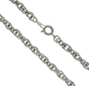 CHAIN NECKLACE ROPE SILVER 4 MM X 24 IN (DOZ)