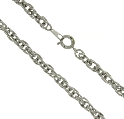 CHAIN NECKLACE ROPE SILVER 5 MM X 24 IN (DOZ)