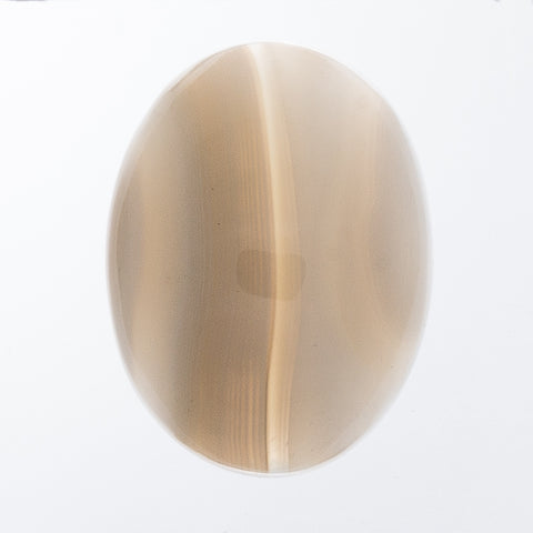 GEMSTONE AGATE TAN BANDED CABOCHON 30 X 40MM