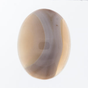 GEMSTONE AGATE CREAM BANDED CABOCHON 30 X 40MM