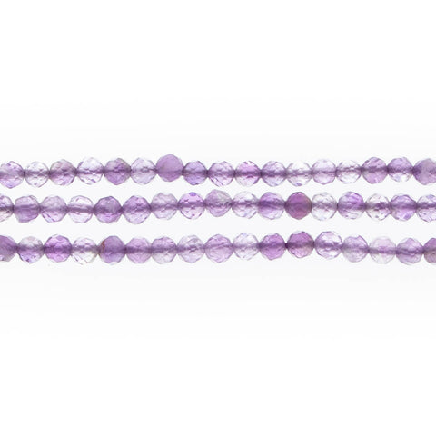 AMETHYST 3mm Faceted Round