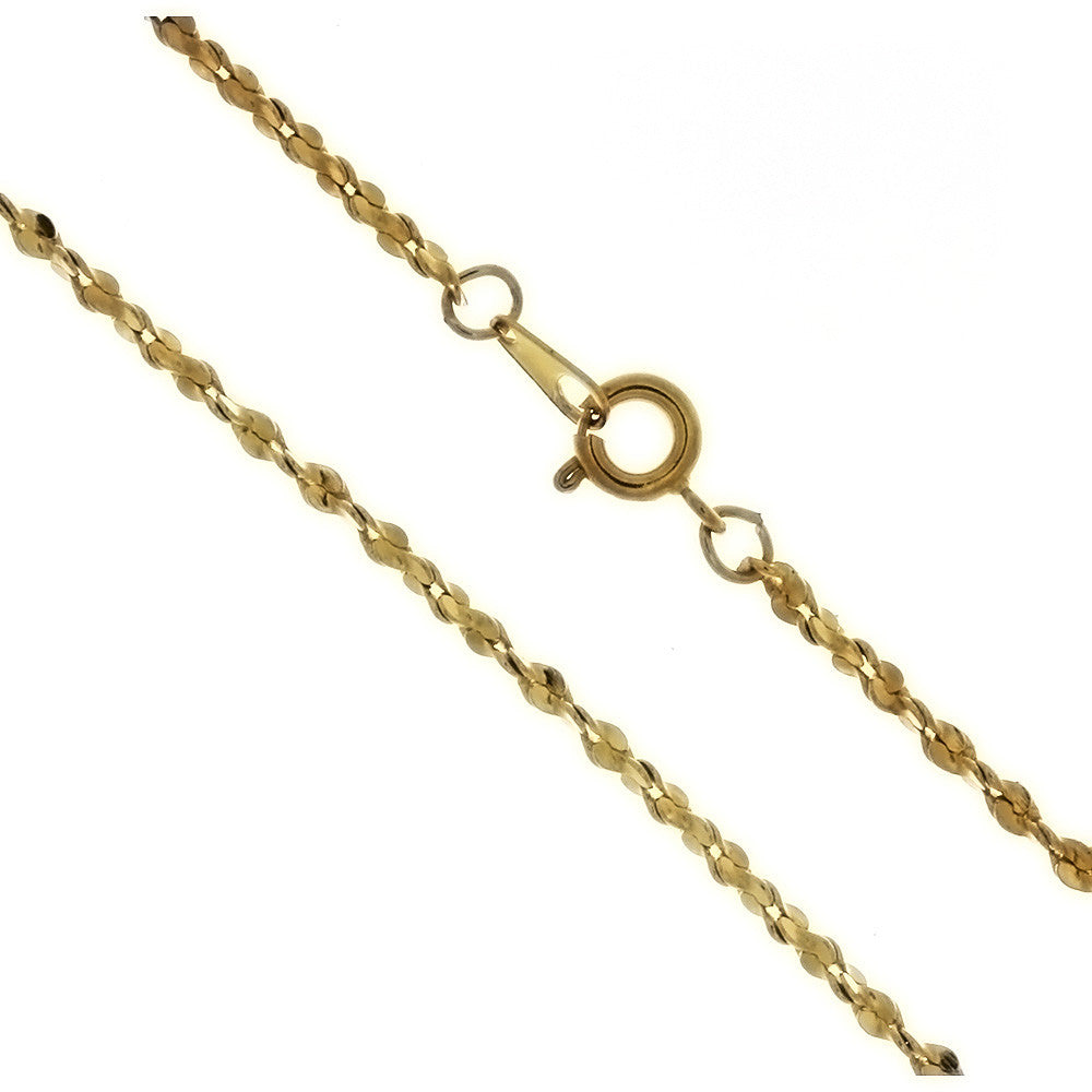 CHAIN NECKLACE JULIET GOLD 2.2 MM X 18 IN (DOZ)