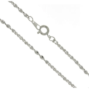 CHAIN NECKLACE JULIET SILVER 2.2 MM X 18 IN (DOZ)