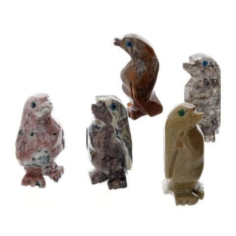 ANIMAL PENGUIN SOAPSTONE CARVING (3)