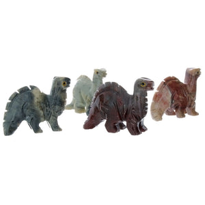 ANIMAL DINOSAUR BRONTO SOAPSTONE CARVING (3)