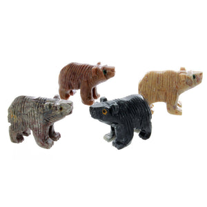 ANIMAL BEAR SOAPSTONE CARVING (3)
