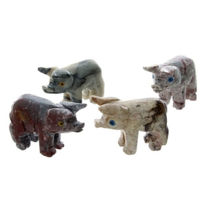 ANIMAL PIG SOAPSTONE CARVING (3)