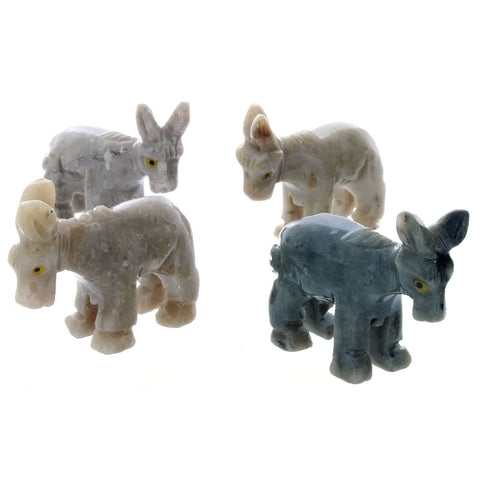 ANIMAL DONKEY SOAPSTONE CARVING (3)