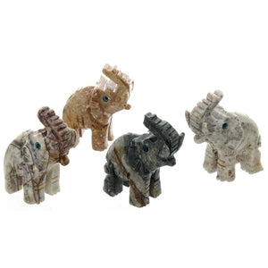 ANIMAL ELEPHANT SOAPSTONE CARVING (3)