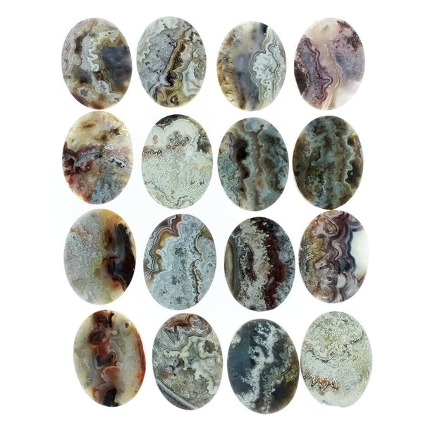 GEMSTONE AGATE MEXICAN LACE CABOCHONS