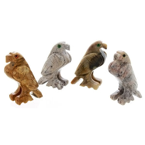 ANIMAL EAGLE SOAPSTONE CARVING (3)
