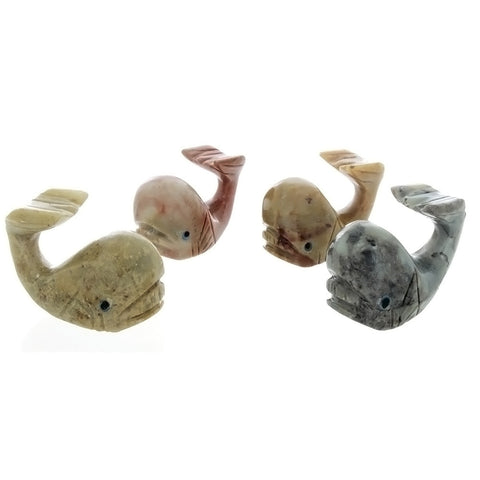 ANIMAL WHALE SOAPSTONE CARVING (3)