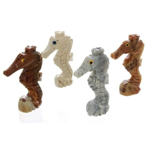 ANIMAL SEAHORSE SOAPSTONE CARVING (3)