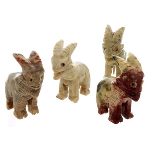 ANIMAL GOAT SOAPSTONE CARVING (3)