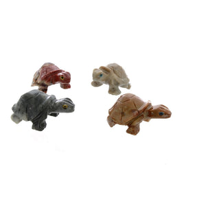 ANIMAL TURTLE STANDING SOAPSTONE CARVING (3)
