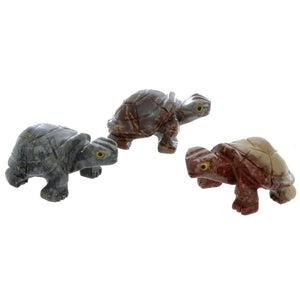 ANIMAL TURTLE SHELL SOAPSTONE CARVING (3)