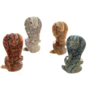 ANIMAL COBRA SOAPSTONE CARVING (3)
