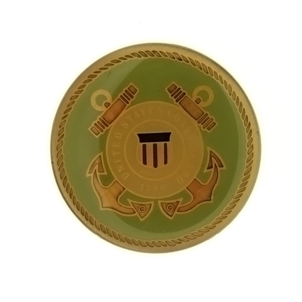 ENAMEL MILITARY COAST GUARD GREEN INSERT