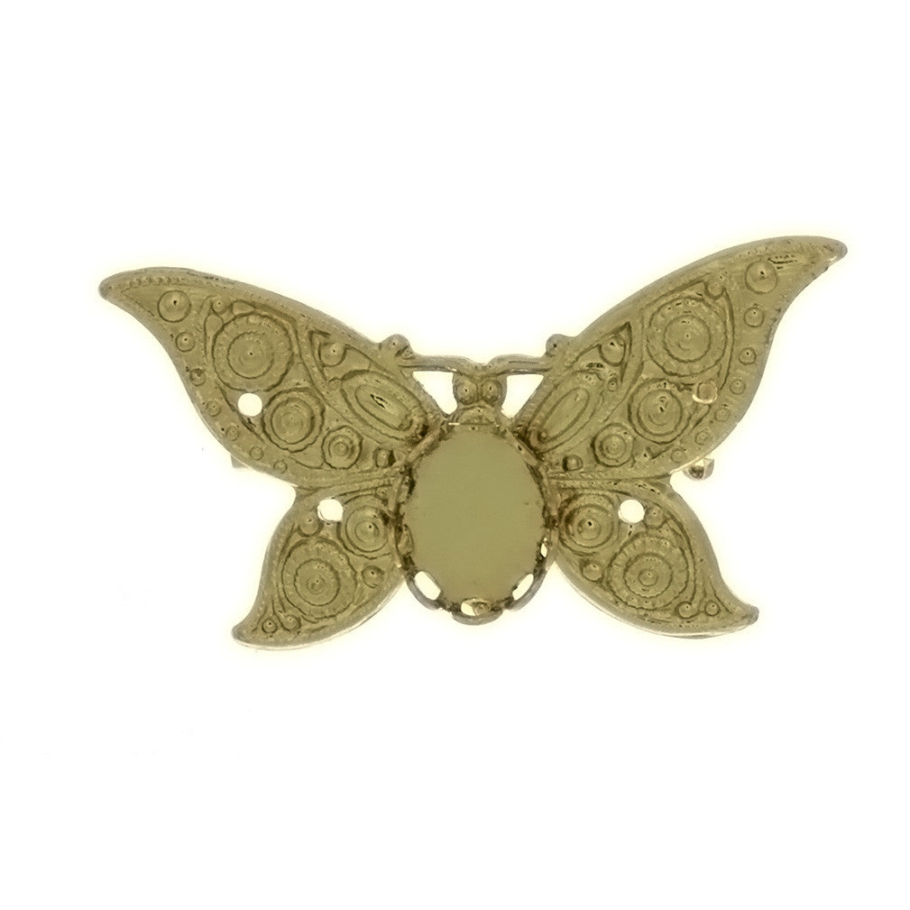 BROOCH CABOCHON BUTTERFLY 8 X 10 MM FINDING
