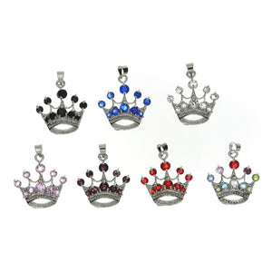 CUBIC ZIRCONIA CROWN 21 X 23 MM PENDANT