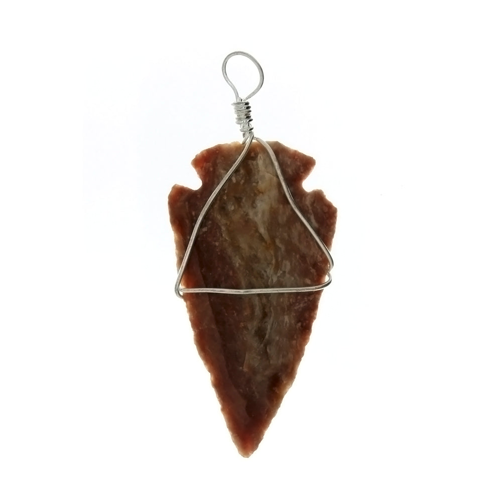 PENDANT NATURAL AGATE 1 1/2 IN ARROWHEAD