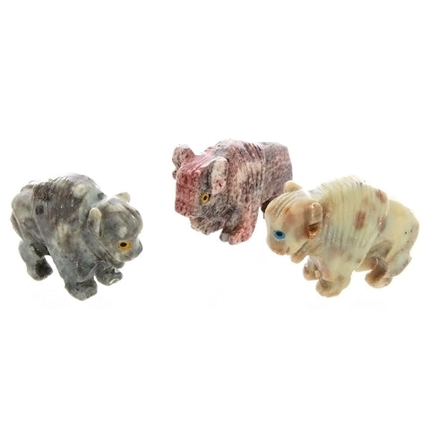 ANIMAL BUFFALO SOAPSTONE CARVING (3)