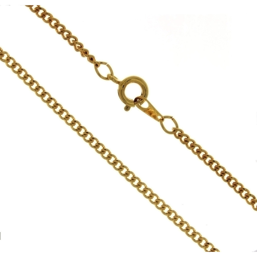 CHAIN NECKLACE CURB GOLD 2.4 MM X 24 IN (DOZ)